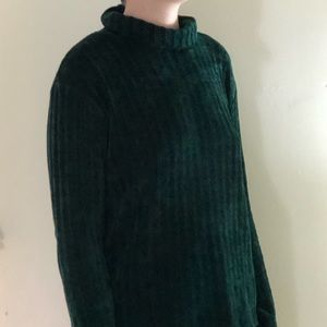 Soft Forest Green Cowl Neck Sweater